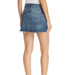 NWT Hudson Fortune Vivid Denim Raw Hem Mini Skirt